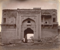 Front view of gateway of Lashkar Bazaar, Gwalior